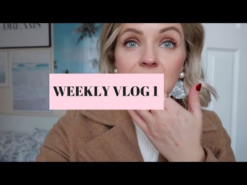 WEEKLY VLOG 1! Everyday life, toning my hair and behind the scenes!
