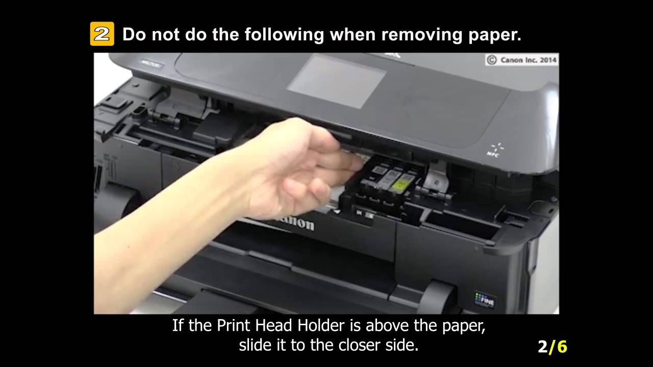 How to Clear a Paper Jam on an HP Inkjet Printer photo