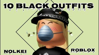 10 BLACK OUTFITS | Roblox