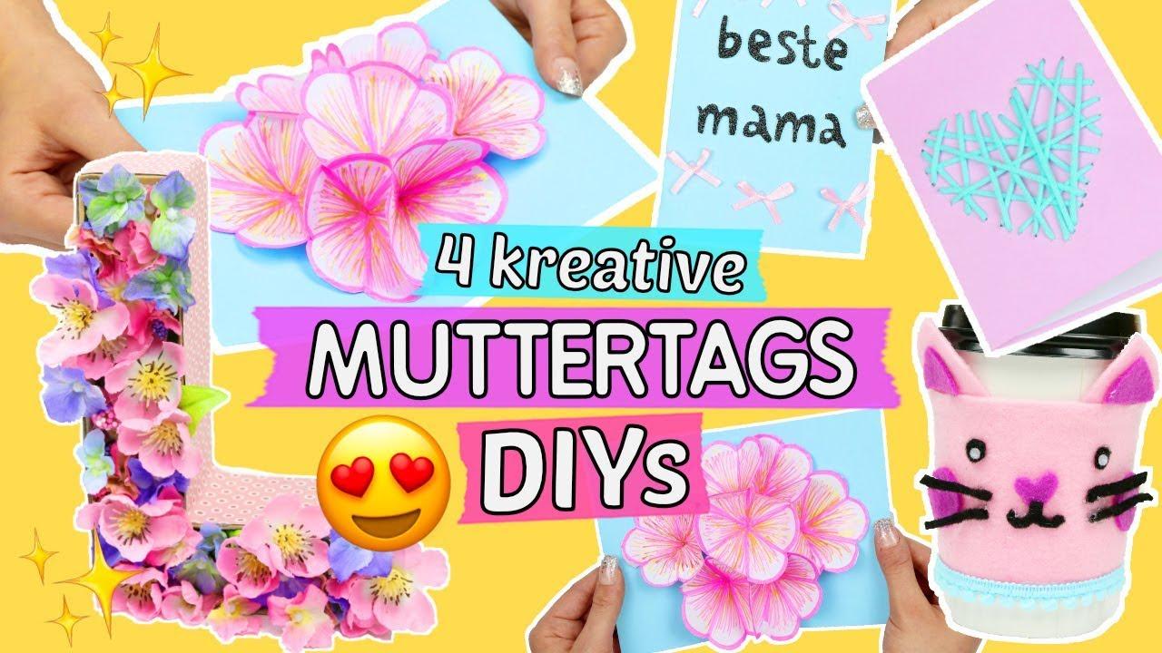 4 Kreative Muttertags Diy Geschenke Zum Selber Machen Pop Up Karte Basteln Geschenk Ideen