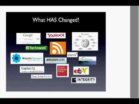 O'Reilly Webcast: Equity Research in the Age of Web