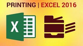 كيفية طباعة جداول البيانات في Excel 2016