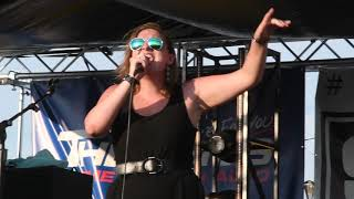 Caitlyn Wolfe performs at the Benton County CountyFest on Saturday night