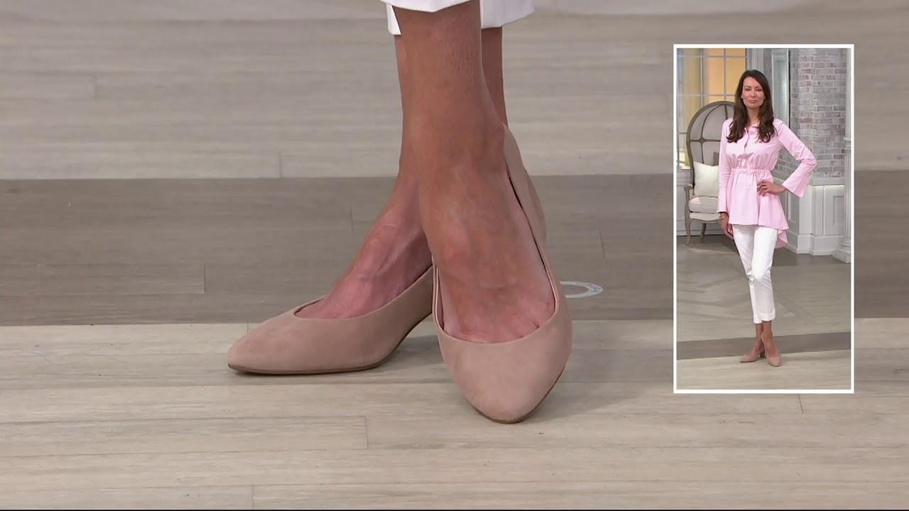 Taryn Rose Leather or Suede Block Heel