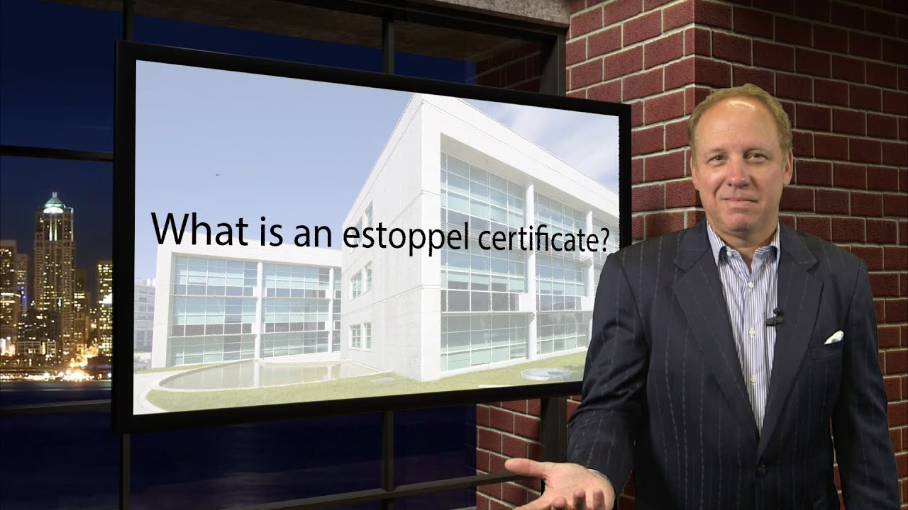 What Is An Estoppel Certificate Youtube