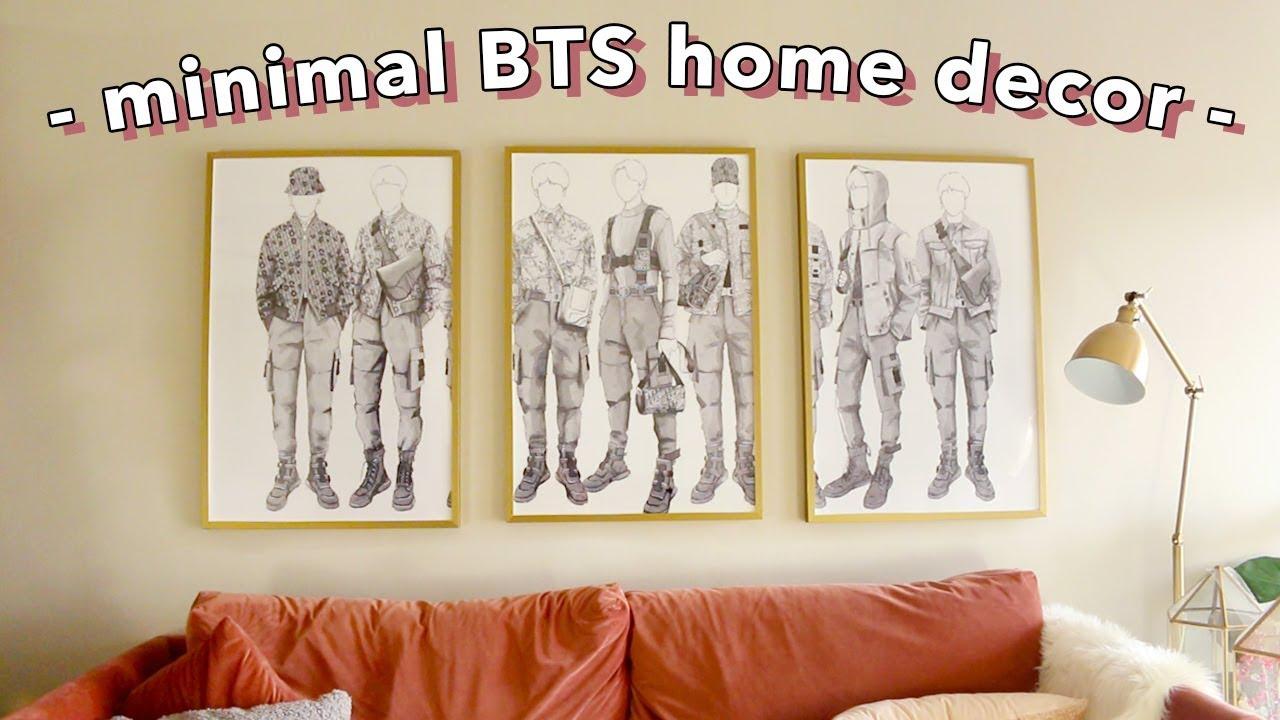 DIY Minimal BTS Room Decor Ideas! | Nava Rose - YouTube on Room Decor Bts id=45396
