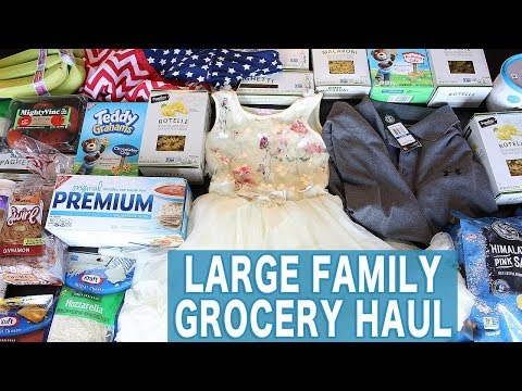 Large Family Grocery Haul: Costco, Sam's Club, Trader Joe's, Jewel-Osco, Toys R Us, and More!!