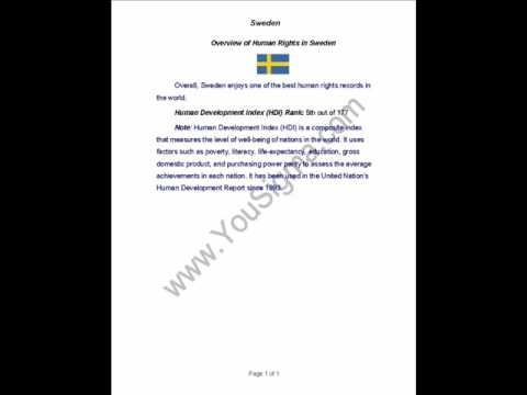 Human Rights in Sweden (#in)