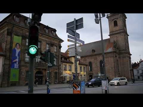 D: Erlangen. Germany. Sights and Sounds of the City Center. October 2017