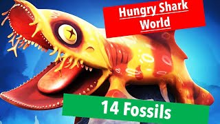 Hungry Shark World PS4 Pt7 Megamouth|14 fossils for Carpet shark and map for Great Hammerhead rescue