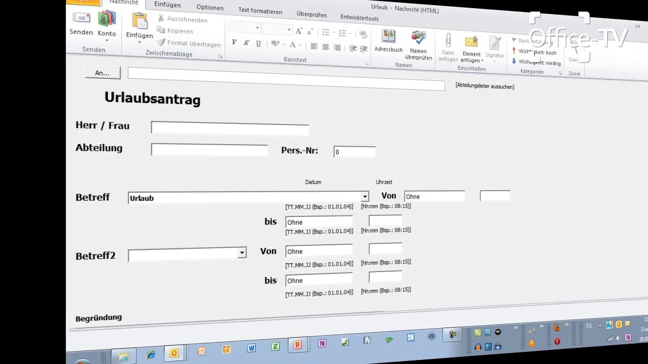 Formulare Mit Outlook Profi Workshop Am 13 Oktober 2010 Fulda Youtube