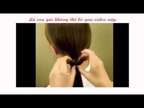 Hướng dẫn cách buộc tóc hình nơ cực dễ thương
