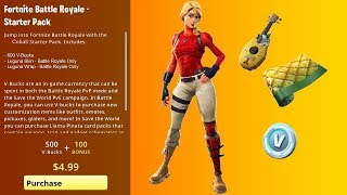 STARTER PACK 6 À FORTNITE! DÉMARRER PACK 6 FORTNITE!