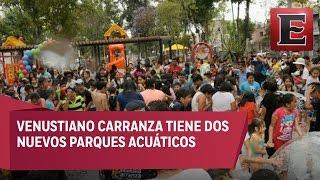 Inauguran parque acuático en Venustiano Carranza