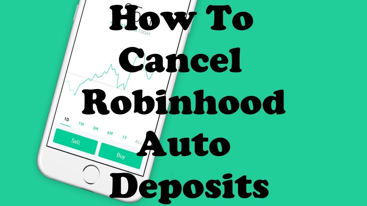 Robinhood App How To Cancel Auto Deposits Old Video Forgot To