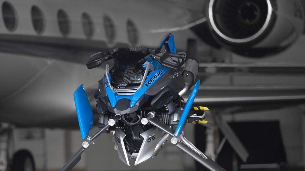 2017 bmw design concept hover bike - youtube