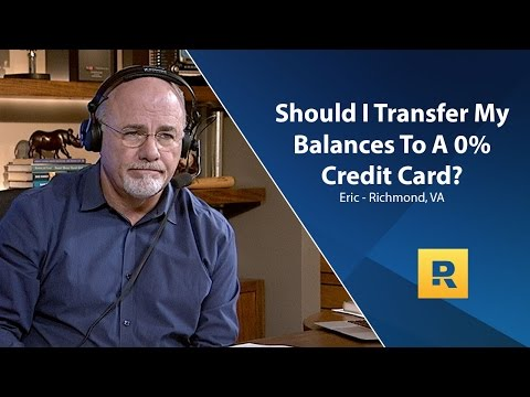 Should I Transfer My Balances To a 0% Credit Card?