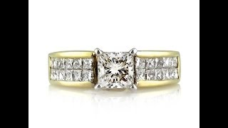 Download Mark Broumand - 2.01ct Princess Cut Diamond Engagement Anniversary Ring