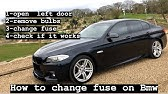 Fuse Box Location And Diagrams Bmw 5 Series 2011 2017 Youtube