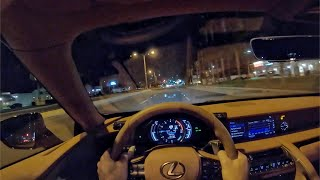 2021 Lexus LC500 Convertible V8 Touring POV Night Drive (3D Audio)(ASMR)