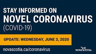 Update COVID-19 for Nova Scotians: Wednesday June 3
