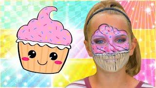Cupcake Face Paint | Cute Face Paint!