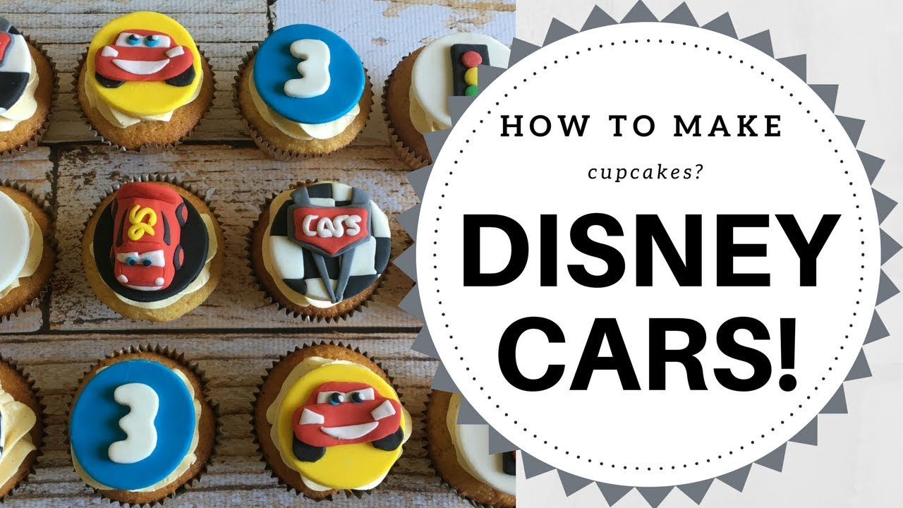 How to make Disney Cars Lightning McQueen cupcakes 3 mins