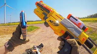 Nerf War First Person Shooter Gun Game (FPS) - Enemy Wind Turbine Takedown | TrueMOBSTER
