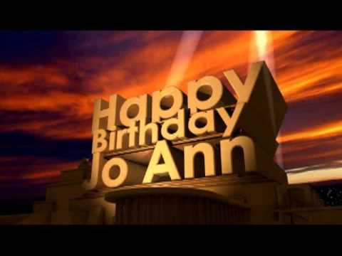 happy birthday joann Happy Birthday Jo Ann   YouTube happy birthday joann