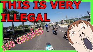 Grom Day 5.0!  150 Groms TAKE OVER!  POLICE Helicopter!