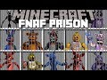 Minecraft FIVE NIGHTS AT FREDDY'S PRISON MOD / FIGHT OFF EVIL FNAF ANIMATRONICS!! Minecraft