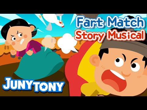 Fart Match | Korean Fairy Tales | Story Musical for Kids | Kindergarten Story | JunyTony