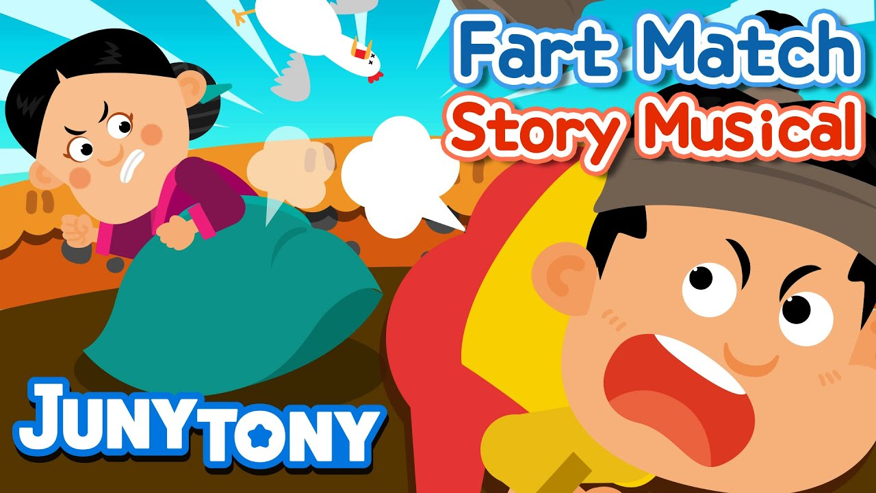 Download Fart Match | Korean Fairy Tales | Story Musical for Kids | Kindergarten Story | JunyTony