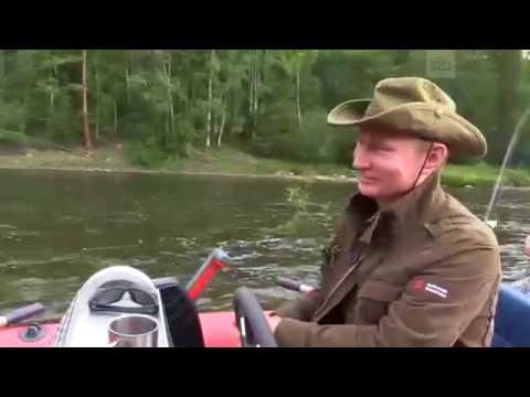 Vladimir Putin and Sergei Shoigu in the Republic of Tyva