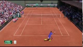Almagro vs Juan Martin Delpotro gran Punto Rolland Garros 2017