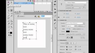 Flash CS6 - Adding a Scrolling text box