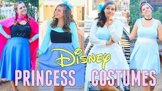 DIY DISNEY PRINCESS HALLOWEEN COSTUMES 2017!! DIY COSTUMES FOR ARIEL, BELLE, ANNA, & CINDERELLA!