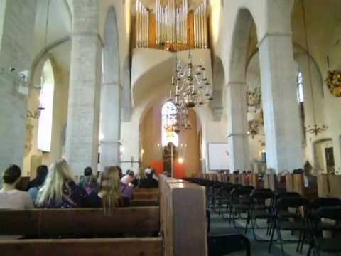 Organ of St. Nicholas church in Tallinn. Niguliste kiriku orel.