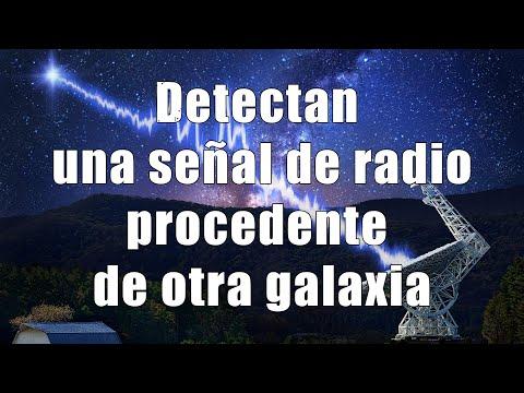 Detectan una señal de radio procedente de otra galaxia