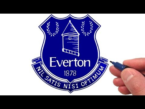 How To Draw The Everton F C Logo Youtube