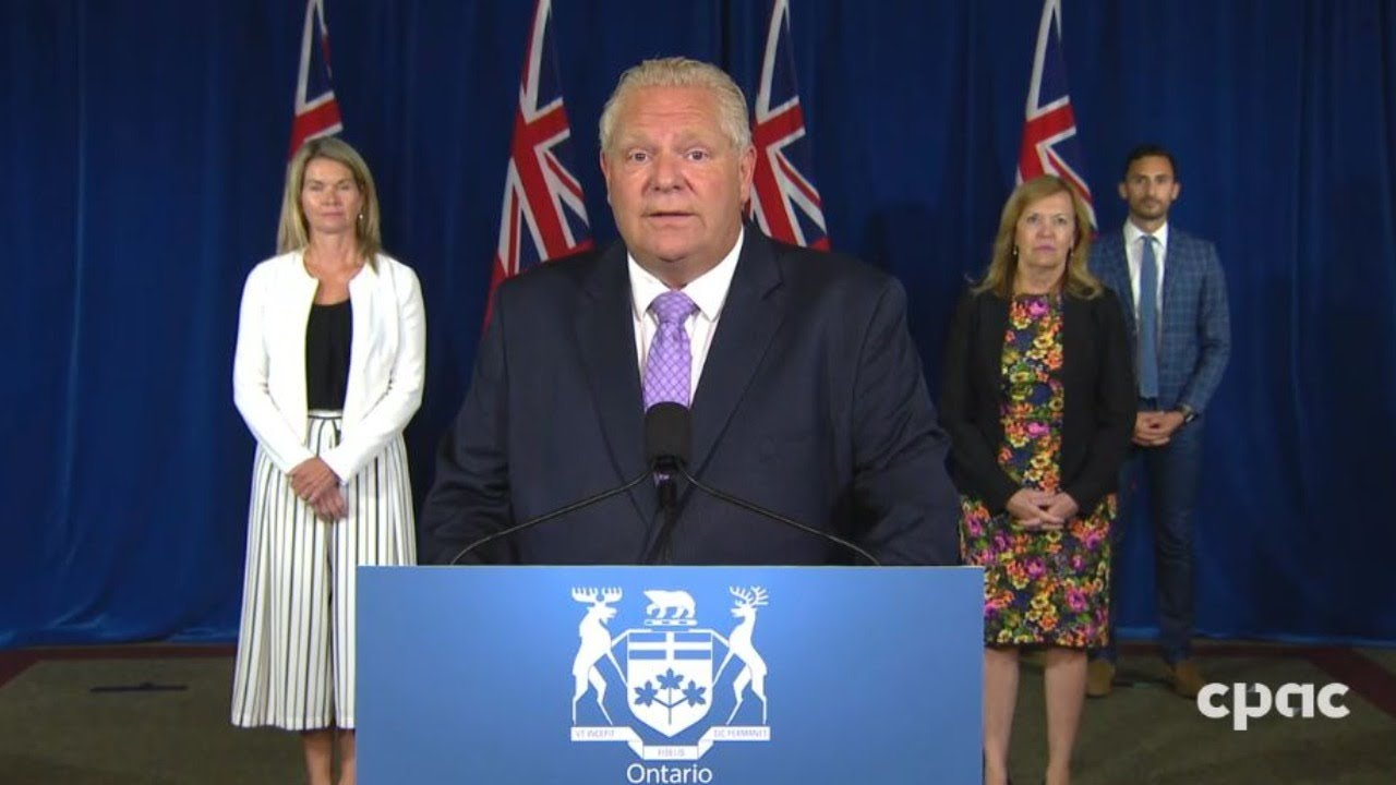 Ontario Premier Doug Ford Provides Covid 19 Update Announces Funding To Combat Crime Aug 6 2020 Youtube