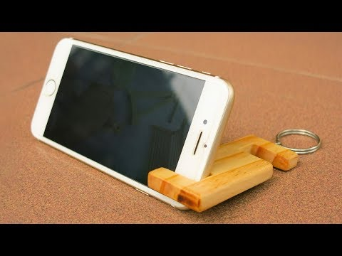 Amazing Idea Simple and Chip Smart Phone Stand DIY by Wood Crafts