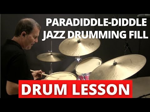 Jazz Drum Fill using a Paradiddle-diddle - Online Jazz Drum Lesson with John X