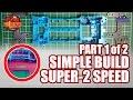 Mini 4WD Building Simple Super-2 Speed Machine