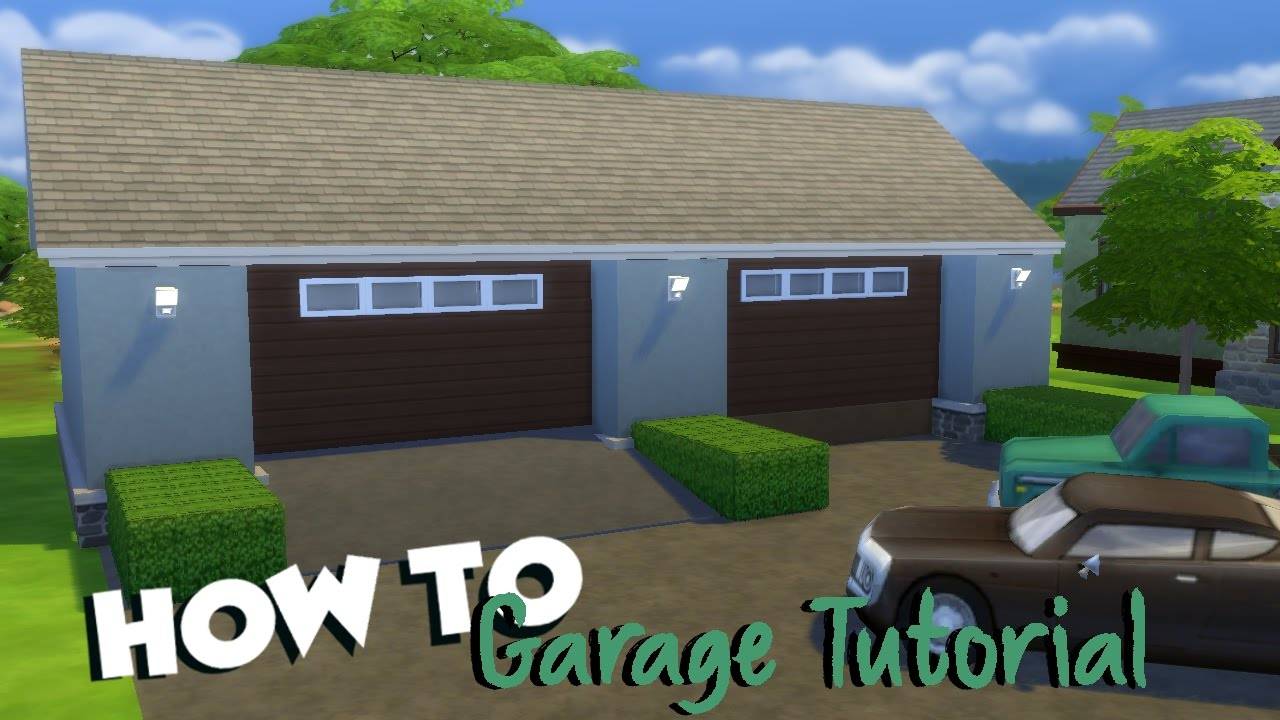 the sims 4 how to garage tutorial youtube
