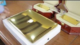 24kt Gold Plated MacBooks & Gold Plated iPhones by Telemart!!