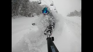 2018年12月9日夏油高原スキー場オープン ひたすらパウダーだけ食う動画(12月28日も夏油で滑ります!!)
