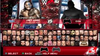 WWE2K16 OwnStyles PCSX2 & PS2 (Menu&Roster Preview)