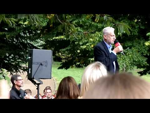 Jeremy Corbyn  - Labour Party rally in Mansfield  - 09-09-2017