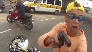 Motorcyle thief shot dead during motorbike hijack in Sao Paulo